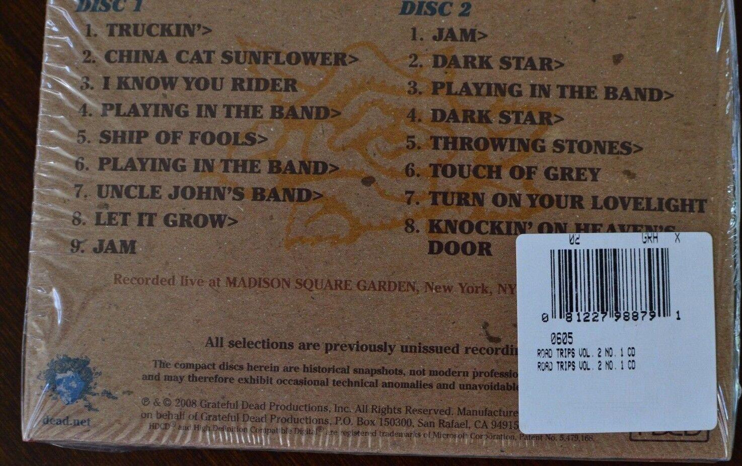Grateful Dead Road Trips Bonus Disc CD MSG September \'90 Vol 2 No 1 ...