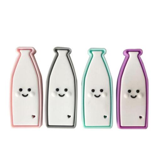 Milk Bottle Baby Teething Toy Food Grade Silicone Teether Grind Teeth Toy N7