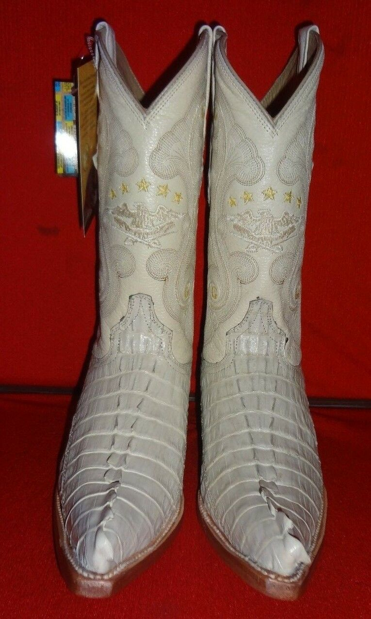 Exotic GENUINE  CAIMAN Western Cowboy Boots   (C71)