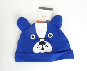 5398a56cef8 Infant Dog Hat Blue Puppy Face w  Ears Cotton Baby Pull On Beanie ...
