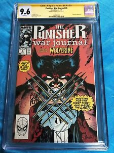 Punisher-War-Journal-6-Marvel-CGC-SS-9-6-Signed-by-Carl-Potts-Wolverine