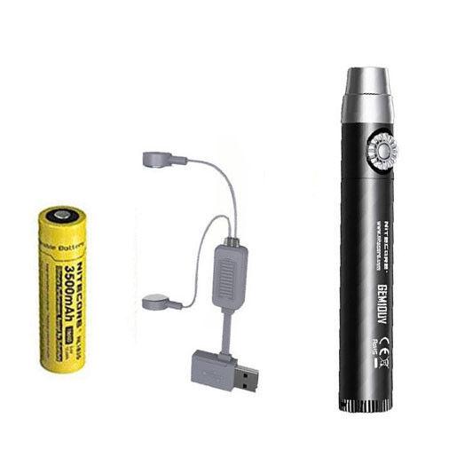 Nitecore Nitecore Nitecore GEM10UV GEM IDENTIFICATION Flashlight w/NL1835 Battery + A1 Charger e4629a