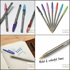 1.6mm Pack of 2 Assorted Colors BIC Cristal Xtra Bold Fashion Ballpoint Pen 24-Count Medium Point