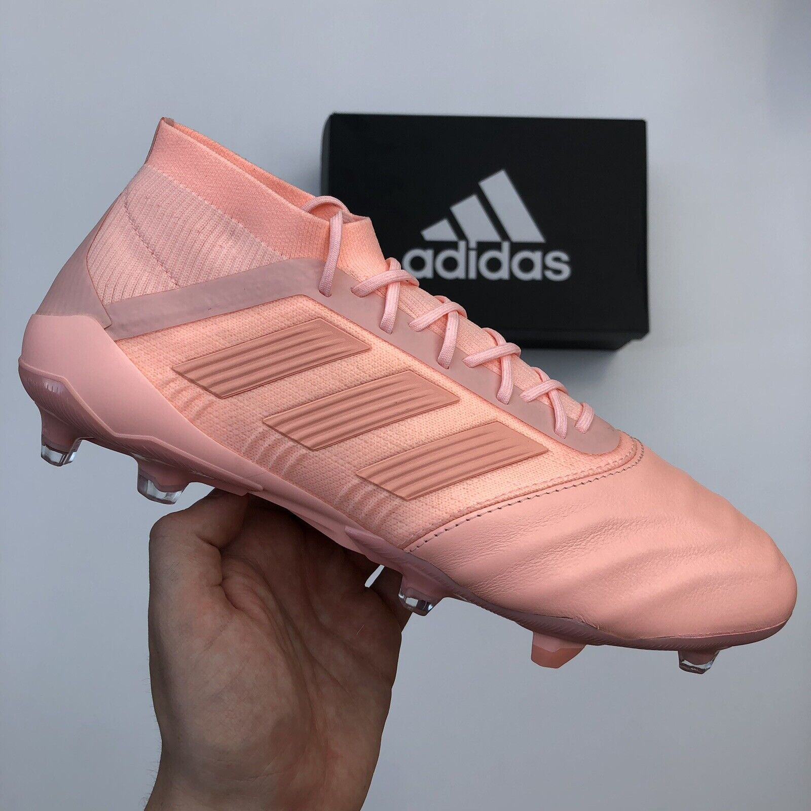 ADIDAS ProugeATOR 18.1 FG cuir rose FOOTBALL bottes (D96601) Taille UK9 US9.5