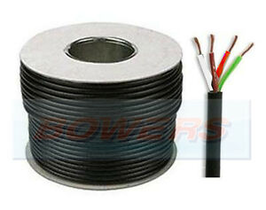 30M BLACK SHEATH PVC 4 CORE AUTO CABLE/REEL 1MM 1MM² 14/0.30MM STRAND