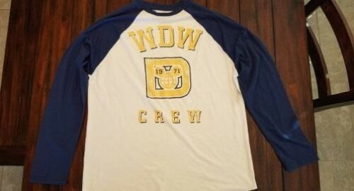 "Disney Parks Men/'s Long Sleeve WDW /""1971/"" Crew Blue-White Yellow Graphics NEW XL"