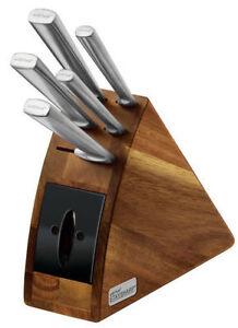 NEW-WILTSHIRE-Staysharp-Radius-6pc-Knife-Block-Set-Built-in-Sharpener