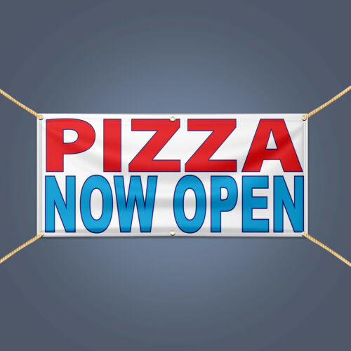 PIZZA NOW OPEN Banner Outdoor Business Pizza Shop Restaurant Advertising Sign