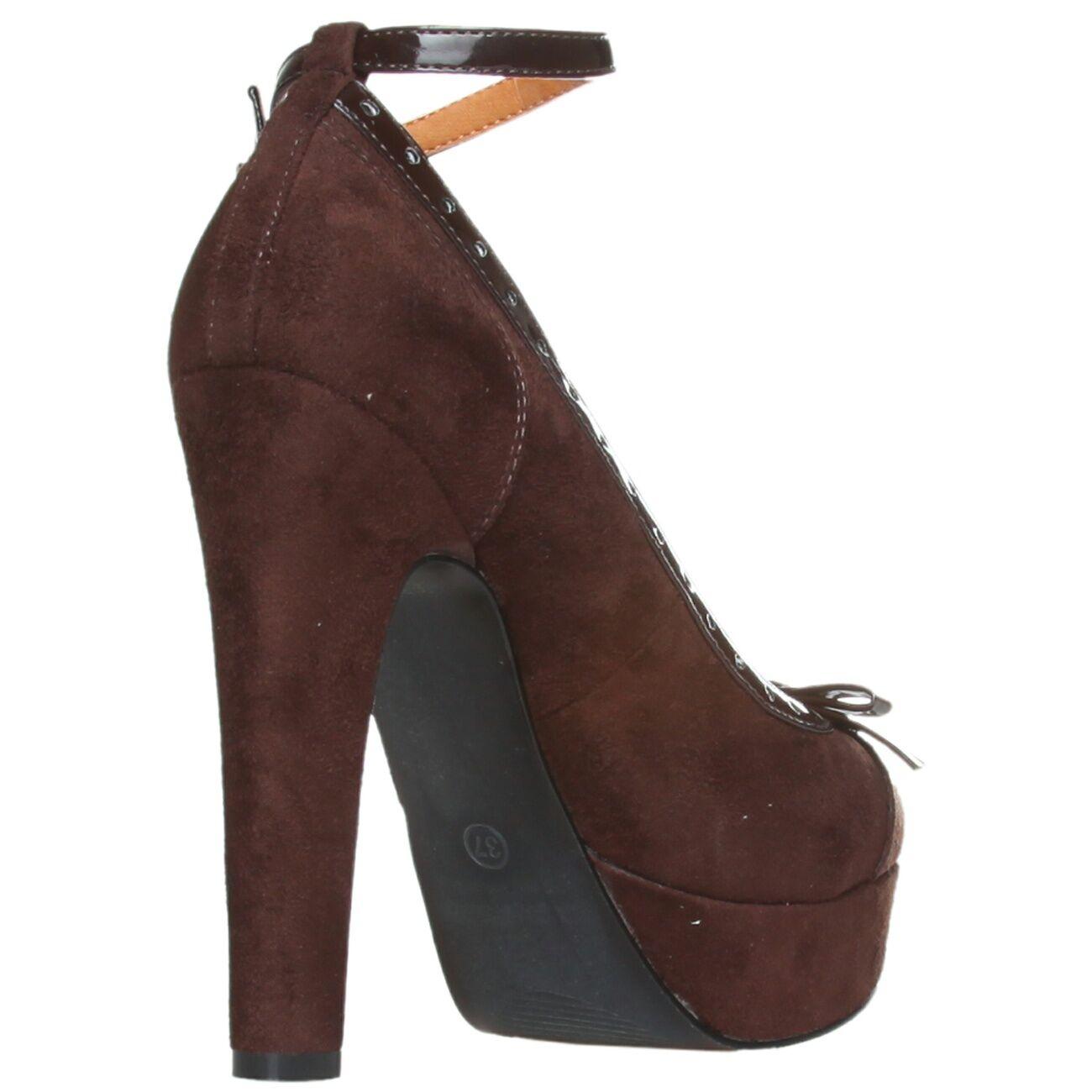 ANA LUBLIN Designer Pumps Mary 38 Janes High Heels Gr. 38 Mary 39 braun SY111 816745