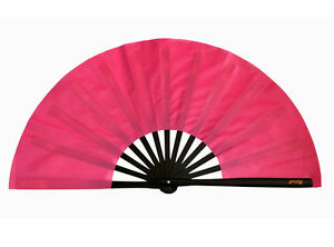 13-034-Chinese-Kung-Fu-TaiChi-Wushu-martial-art-Performing-dance-black-bone-pink-Fan