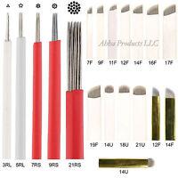 50 Permanent Makeup Microblading Eyebrow Shader Round Tattoo Microblade Needles