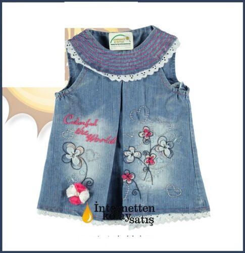 74 86 80 Baby Jeans Kleid  Gr