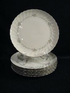 SYRACUSE SILHOUETTE FINE CHINA SWEETHEART SALAD PLATES - SIX | eBay