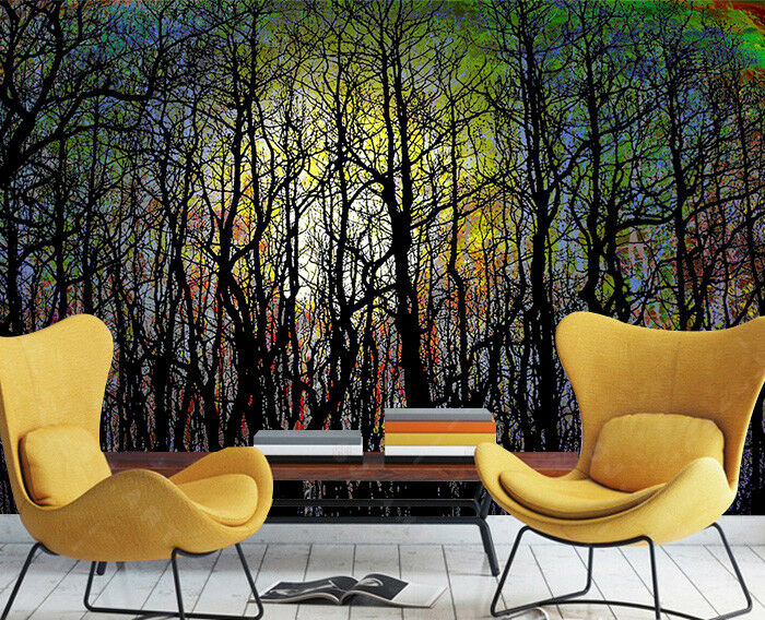 3D Graffiti Forest 785 Wall Paper Murals Wall Print Wall Wallpaper Mural AU Kyra