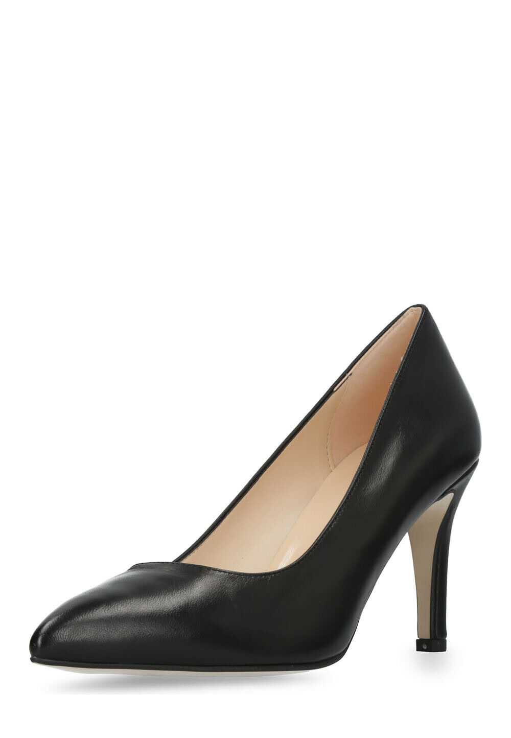 CAFE schwarz Damen Pumps High Heels Schuhe echt Leder Größe 39 38