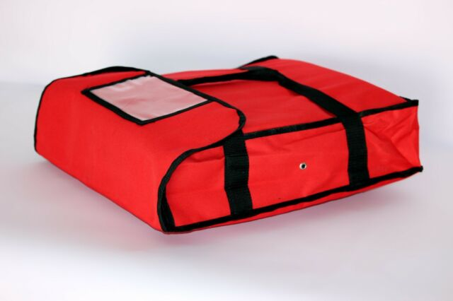 6b2b61381092 Pizza Food Delivery Bag Red Thermal Insulated Nylon Holds 2 16