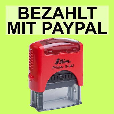 BEZAHLT MIT PAYPAL Shiny Printer Rot S-842 Büro Stempel Kissen schwarz