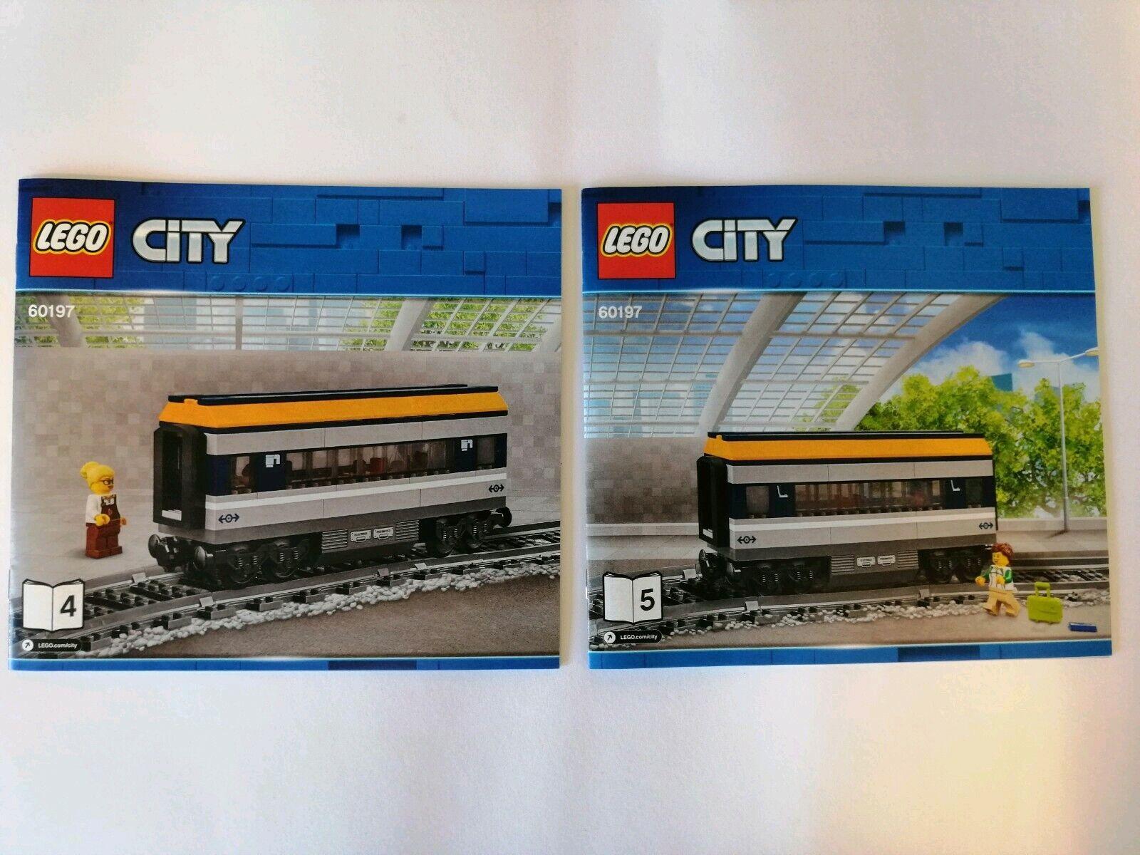 Lego City Eisenbahn aus 60197 Speisewaggon + Personenwaggon + Figuren + BA Neu
