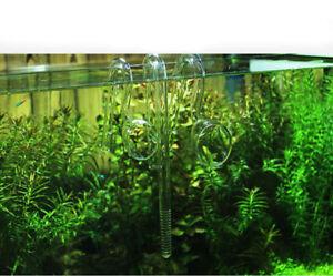 100% Vrai Aquarium Nano Lily Pavot Verre Pipe Tna Avec Ventouse Tuyau D'eau Bo-afficher Le Titre D'origine En Quantité LimitéE