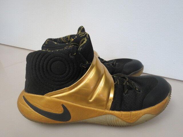 MENS Nike Zoom Kyrie 2 iD Black Gold 843253-995 SIZE 9.5 W564K
