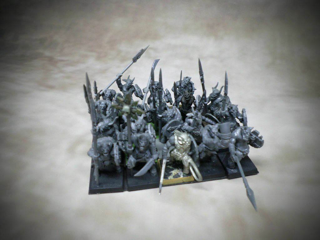 ❶ 19 Ungors Magnetized bases warhammer chaos beastmen age of sigmar AoS