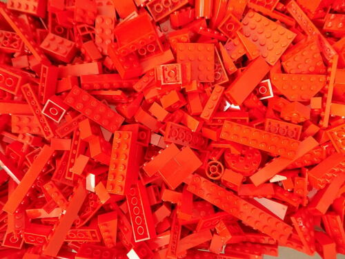 LEGO RED 1//4 lb Bulk Lot of Bricks Plates Specialty Parts Pieces Pounds