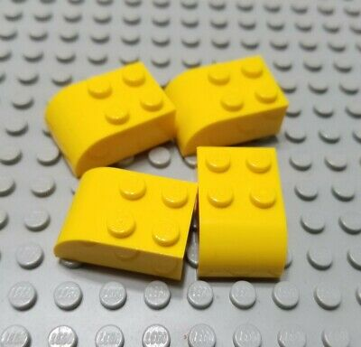 LEGO Lot of 12 Yellow 3x2 Curved Foot Brick Pieces