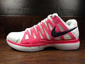 Nike Zoom Vapor 9 Tour Sharapova (White/Purple/Pink) Tennis [543222-156] Womens