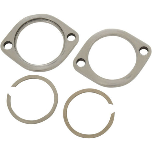 Stainless Exhaust Flange Kit 1985-1994 Super Glide FXR 1986 1987 1988 1989 1990