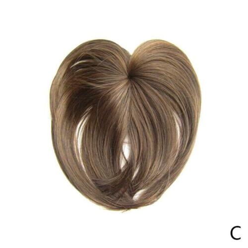 8 Colors Silky Clip-On Hair Topper Straight Hairpiece Wig Best