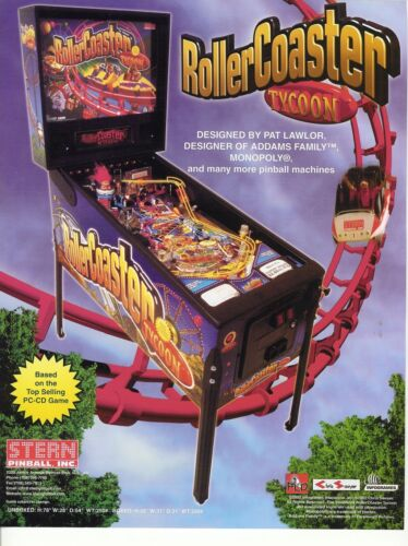 Stern RollerCoaster Tycoon Pinball ROM Upgrade chip set