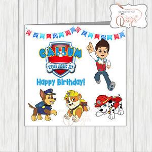 Image Is Loading Personalised Logo Name Amp Age Kids Son Birthday