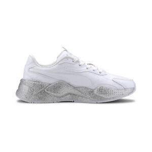 Puma Women's RS-X3 Glitz Puma White Sneakers 37264701 NEW!