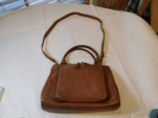 9555a1bf0a5 Fossil 75082 brown hand bag purse bag crossbody travel Leather Spots  GUC