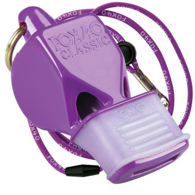 c9a86be74d99 Fox 40 Classic CMG Whistle With Breakaway Lanyard Purple
