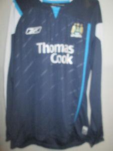 huge selection of a90af af37f Details about Manchester City no 6 Away Football Shirt long sleeves dark  blue Medium /6398
