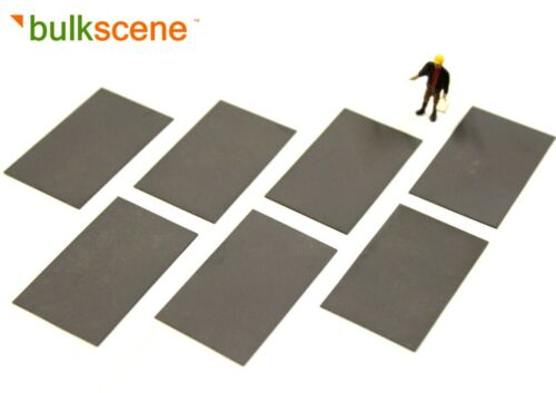 NEW OO GAUGE 1//76 WAGON LOADS BLACK STEEL PLATES 45mm x 27mm BULKSCENE x7