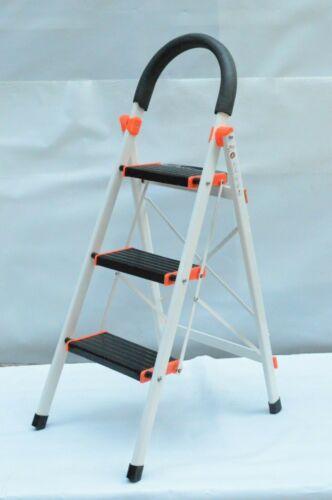 200kg NEU AL-MALEKA Leiter Klappleiter Stufenleiter Stehleiter 3 Stufen Max