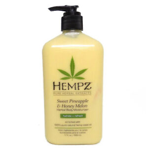 Hempz-Lotion-Herbal-Body-moisturizer-SWEET-PINEAPPLE-amp-HONEY-MELON-17-oz