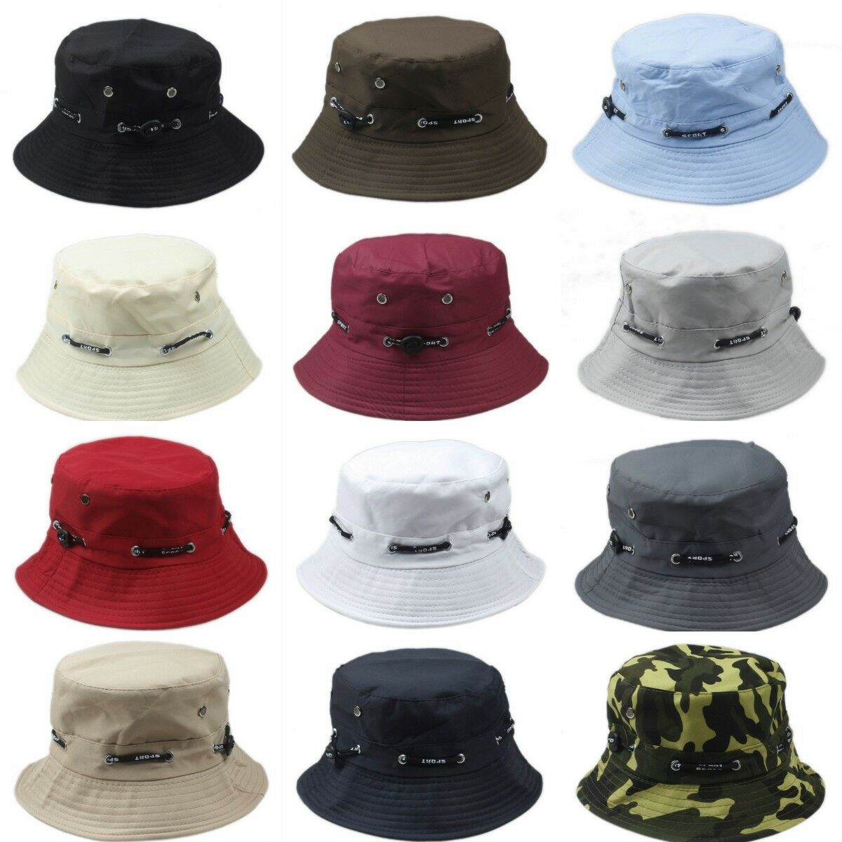 Men Women Floral Printed Bucket Cap Summer Fishing Holiday Travel Casual Hats Clothing, Shoes & Accessories