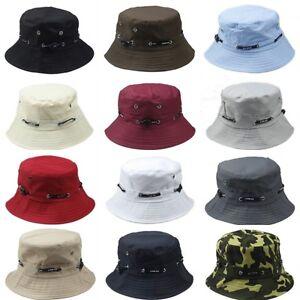 Bucket Hat Cachou Plat Chasse Pêche Outdoor Summer Cap Unisexe 100% Coton Neuf-afficher Le Titre D'origine