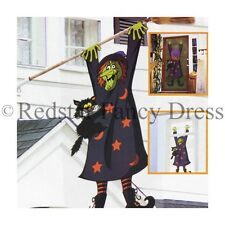 CRASHED WITCH 3D HALLOWEEN DOOR POSTER FANCY DRESS DECORATION ACCESSORY 5FT