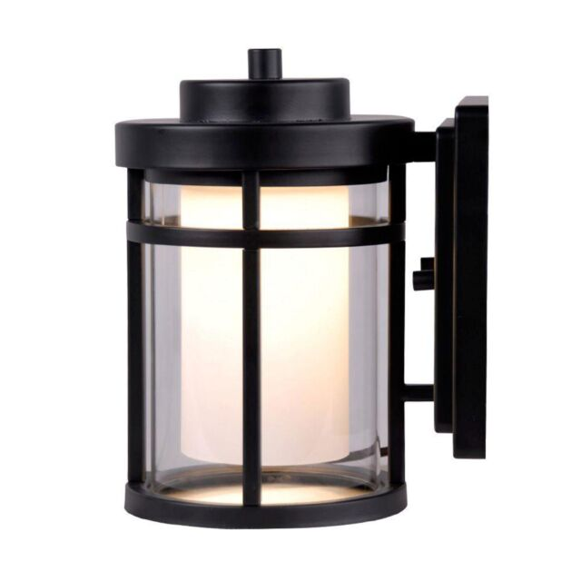 Home Decorators Collection Dw7031bk Black Outdoor Led Small Wall Light