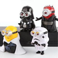 Star Wars Action Figure 4 Spielzeug Darth Vader Darth Maul Stormtrooper Minions