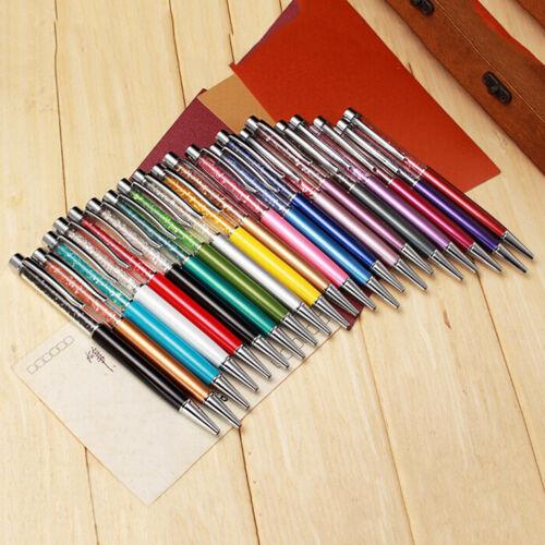 Crystal Ballpoint Pen Roller Ball Pen Gift Stationery Office School Notebook /&T