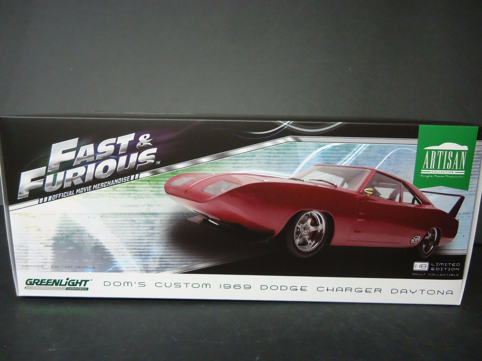 Greenlight Dodge Charger Daytona su Misura 1969 Fast And Furious 1 18