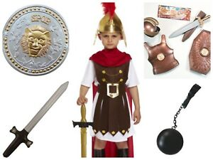 Boys 4-12y Roman General Kid Sparta Soldier Fancy Dress Outfit Costume Book Week
