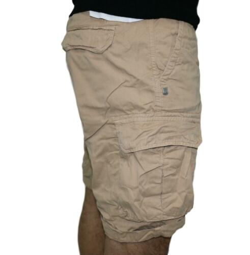 Short 40 trame Nick Beige Homme Coupe Standard Coton Poches Cargo