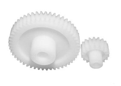 Modul 1 14 Zähne Zahnrad Stirnrad KS aus Kunststoff Polyacetal Bohrung Ø4