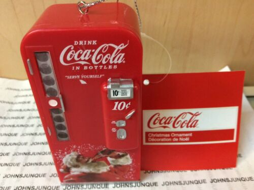 COCA-COLA VENDING MACHINE ORNAMENT KURT ADLER RED PLASTIC NEW WITH TAG
